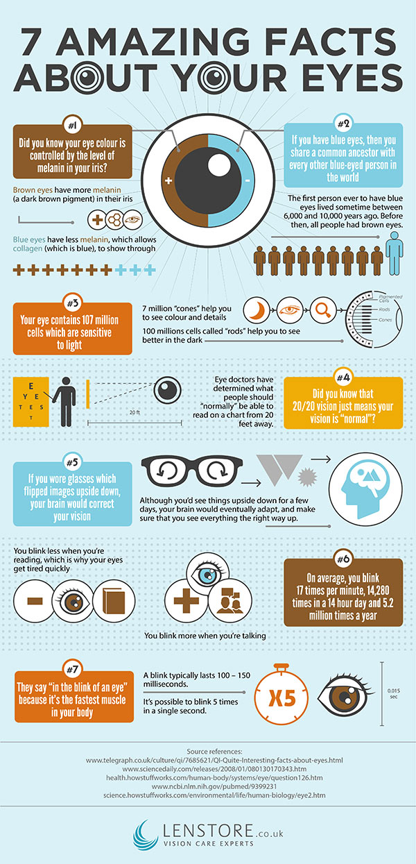 7 amazing eye facts infographic