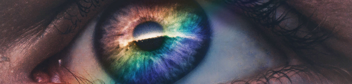 Photo of eye with colours