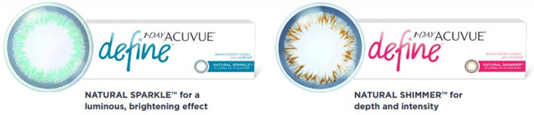 Acuvue Define lenses