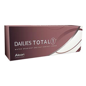 Box of Dailies Total1 contact lenses