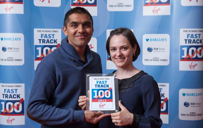Mitesh and Olga Fast Track photograph