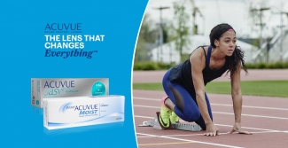 Acuvue products and Katarina Johnson-Thompson