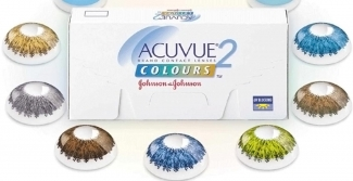 Acuvue 2 coloured contact lenses