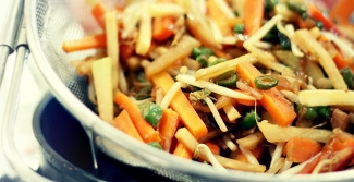 Healthy stir fry food