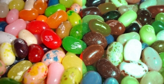 Coloured jelly beans colour blind