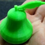 3D green pear in someone's hand
