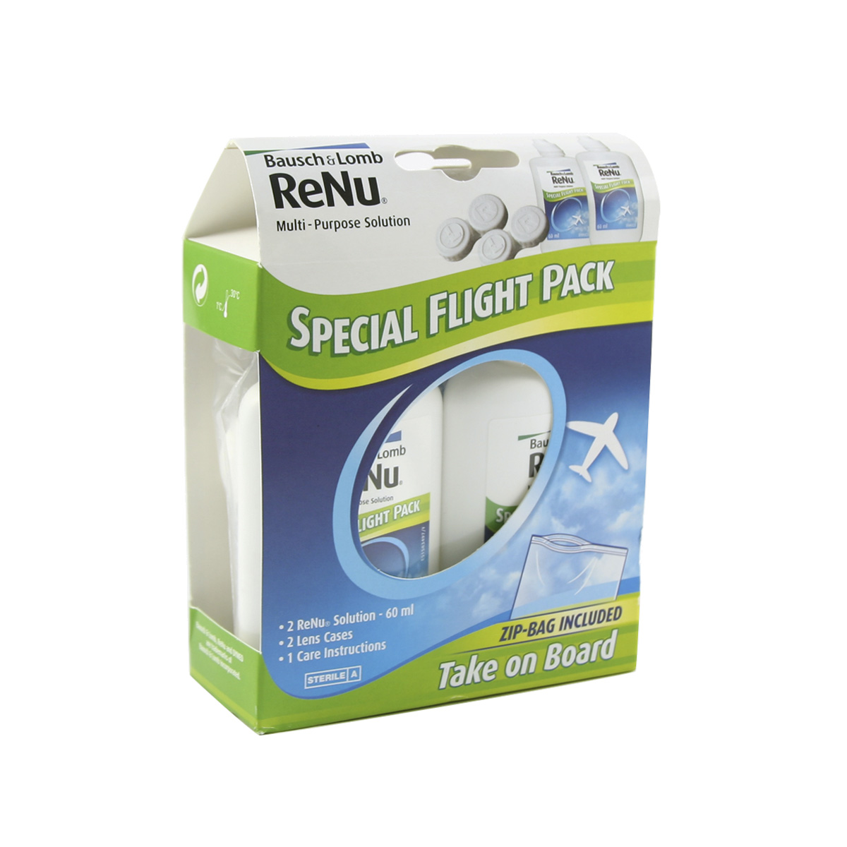 Lenstore ReNu Multi-Purpose Flight Pack (2*60ml)
