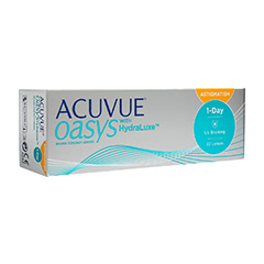 ACUVUE OASYS 1 Day for Astigmatism With Hydraluxe