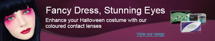 Fancy Dress, Stunning Eyes - Enhance your Halloween costume with our coloured contact lenses