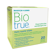 Biotrue Daily Eyelid Wipes (20 wipes)