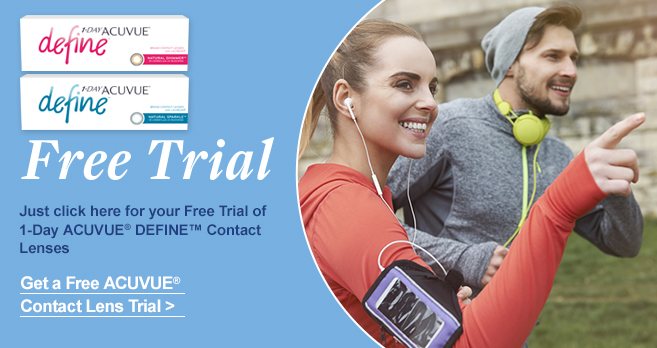 Free Trial of 1 DAY ACUVUE DEFINE contact lenses