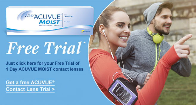 Free Trial of 1 DAY ACUVUE MOIST