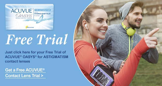 Free Trial of ACUVUE OASYS for Astigmatism lenses