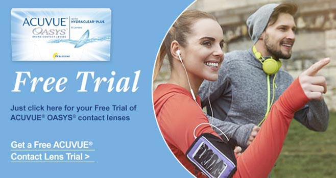 Free Trial of 1 DAY ACUVUE MOIST contact lenses