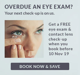 Don't forget your free eye care - worth up to £60