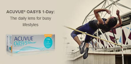 ACUVUE OASYS® 1-Day. The daily lens for busy lifestyles.